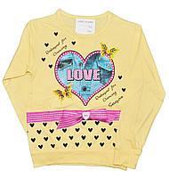"""Батник детский """"Love"""" из тонкого трикотажа, для девочек. размеры 5-8 лет"""