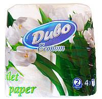 "Туалетная бумага ""Диво"" Ekonom, белые, двухслойные  4 шт."