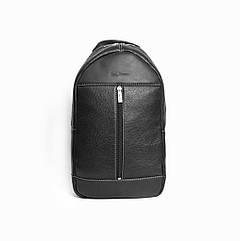 Мужской кожаный рюкзак Issa Hara ВР1 черный