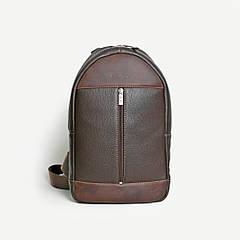 Мужской кожаный рюкзак Issa Hara ВР1 коричневый