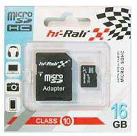 Карта памяти HI-RALI microSDHC 16 GB card Class 10+adapter