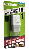 СЗУ 220В - USB Golf GF-U1 (белый)