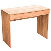 Письменный стол с 2-мя ящиками, цвет дуб, ширина 1 метра