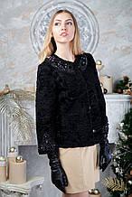 Піджак з чорної каракульчі swakara broadtail jacket