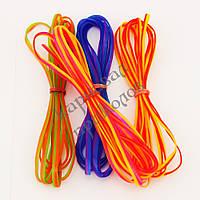 Ленты для плетения силиконовые двухцветные (уп. 4шт), фото 1
