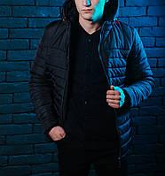 Куртка весенняя, осенняя, демисезонная  мужская, черная, до -2 градусов