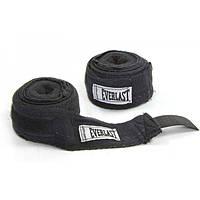 Бинты боксерские эластичные Everlast 3 м. (черный)