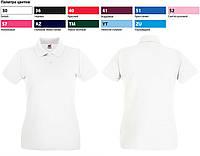 Футболка женская Поло Lady-Fit Premium Polo, S (42-44), Белый, фото 1
