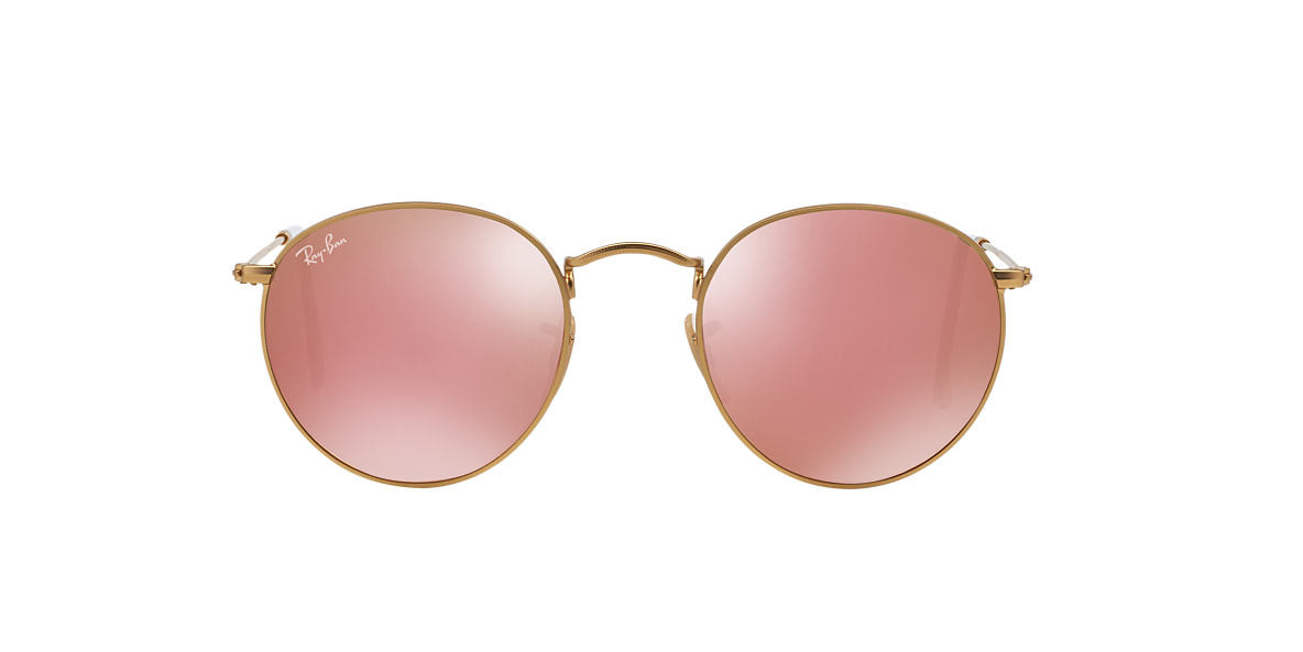 Солнцезащитные очки Ray-Ban ROUND METAL MIRROR GRADIENT COLLECTION GOLD / PINK RB3447  112/z2