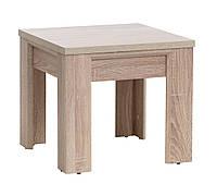 Столик приставной квадратный высота 45 см (цвет дуб)