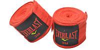 Бинты боксерские эластичные Everlast 4 м. (красный)