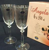 Набор бокалов для вина Bohemia Angela 350 мл-6 шт