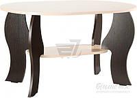 Журнальный столик овальный с фигурными ножками