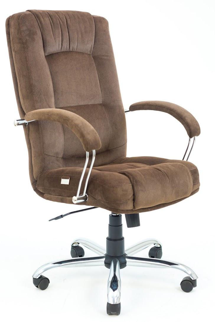 Компьютерное Кресло Альберто (Хром) велюр