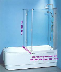 Шторы для ванн KO&PO 7047/Y - 80
