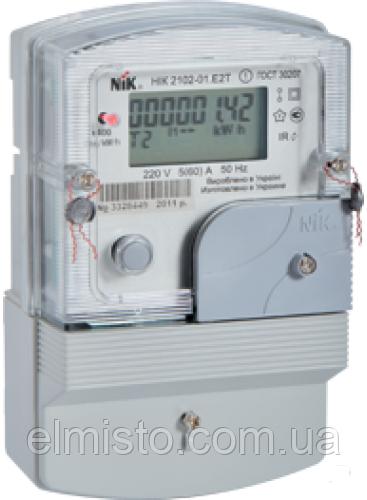 Счётчик НIК 2102-02.Е2МСТР1 многотарифный 220В (5-60)А, 4тарифа, радиомодуль, защита от магн. и радиополей