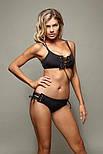 Женский стильный купальник-бандо со шнуровкой, фото 2