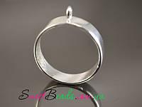Рамка для эпоксидной смолы круглая(25мм), серебро