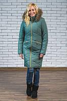 Женское зимнее пальто  с натуральным мехом  р-42-54