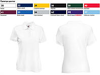 Футболка женская Поло Lady-Fit 65/35 Polo, XL (48-50), Белый