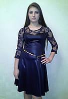 Кожанное платье с гепюром Dress Code Одесса
