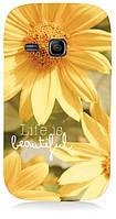 Чехол для Samsung gt-s6312/6310 galaxy young (Flowers)