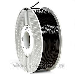 Черный пластик для 3d принтера verbatim pla 2.85 мм 1 кг black (55276)