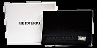 Кожаный мужской кошелек BEIDIERKE черный QAQ-000915, фото 1