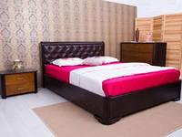 Кровать Милена с мягкой спинкой прошивка Ромбы