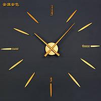Часы настенные матовое Золото часовой механизм цифры стрелки