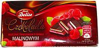 Шоколад молочный Delise Malinowym (со вкусом малины) Польша 100г