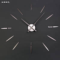 Часы настенные матовое Серебро часовой механизм цифры стрелки