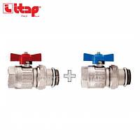 Комплект прямых шаровых кранов ITAP DN25