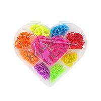 Резиночки для плетения Органайзер (500шт) Сердечко