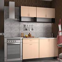 Кухонный гарнитур 1,4 м из 4 модулей песочная (кухонный комплект мебели)