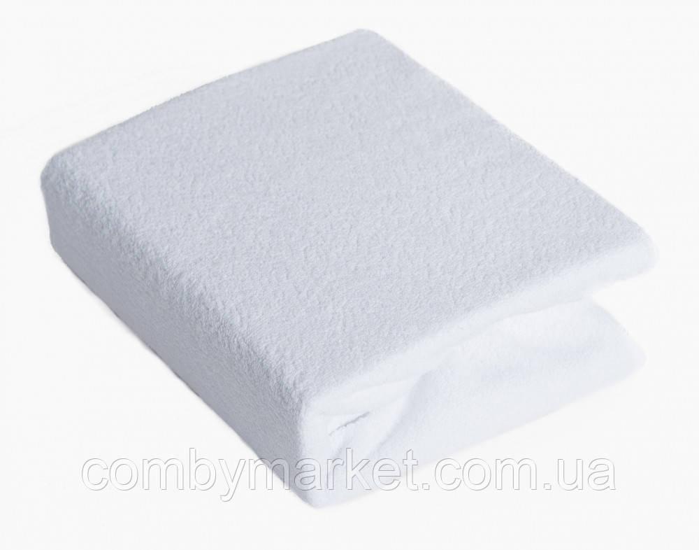 Простынь Twins махровая на резинке белая 120*60 см