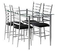 Комплект кухонный мебели ( стол стеклянный 120 см + 4 стула)