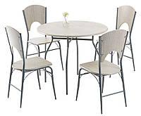 Комплект кухонный  ( стол круглый 90 см + 4 стула)