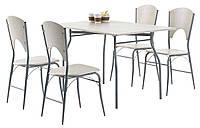 Комплект кухонный ( стол прямоугольный 120см + 4 стула) светлый