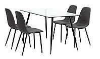 Комплект кухонный (обеденная группа из стола стеклянного + 4 стула)