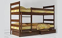 Кровать детская деревянная двухъярусная Ясна с выдвижными ящиками ТМ Олимп