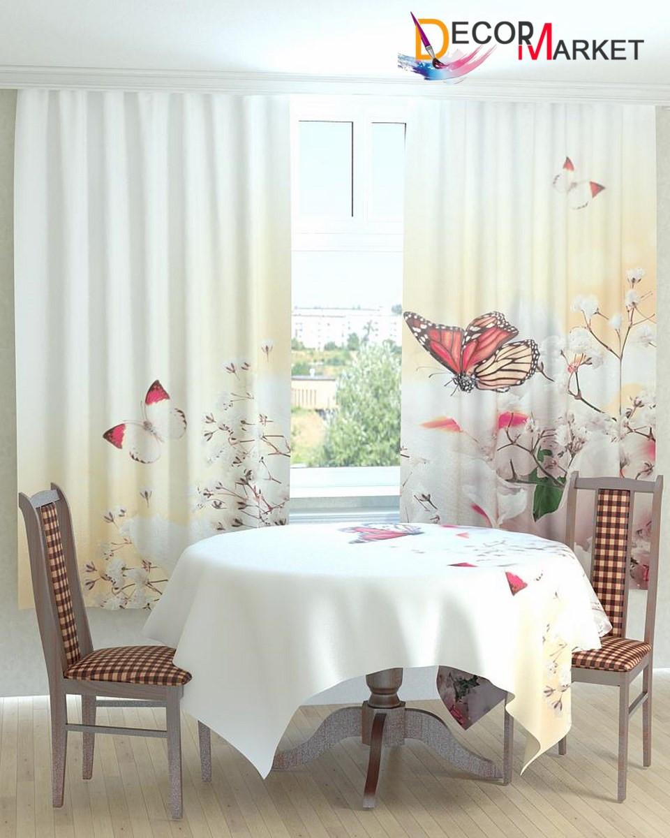 Фотошторы для кухни бабочки