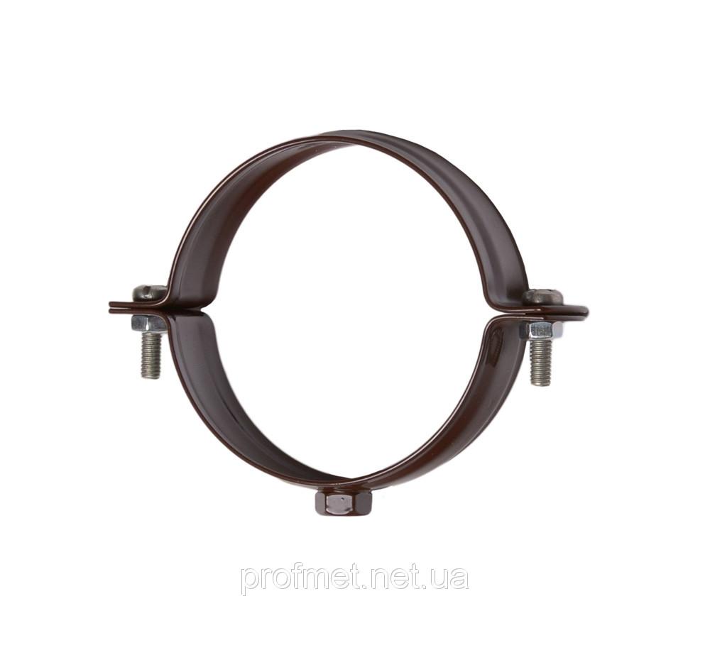 Хомут водосточной трубы со шпилькой металлический 125 мм, Система водосточных труб BRYZA