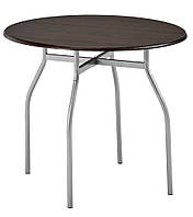 Обеденный стол круглый (диаметр 90см) метал/ясень THYHOLM