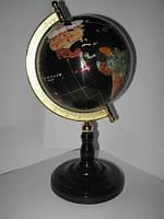 Глобус мраморный диаметром 130мм черный