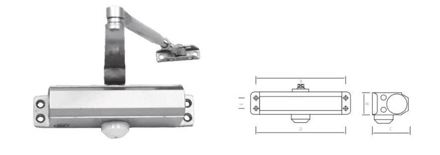 Доводчик дверной морозостойкий Siba SB-1002S сатин (25-45кг)