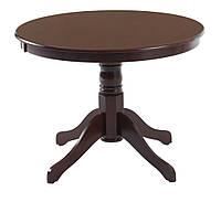 Обеденный стол винтажный круглый коричневый (диаметр 100 см)