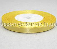Лента атласная ширина 0,6 см. (23 метра)  цвет - желтый