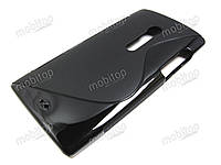 Силиконовый TPU чехол Sony Xperia Ion LT28i (черный)