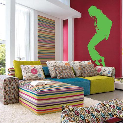 Виниловая интерьерная наклейка Майкл Джексон (наклейки певцы)
